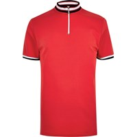 River Island Mensred Slim Fit Turtle Neck Polo Shirt