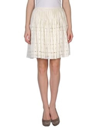 Moschino Cheap And Chic Moschino Cheapandchic Knee Length Skirts Ivory