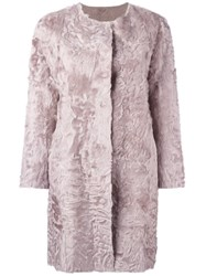 Simonetta Ravizza Fur Coat Pink And Purple