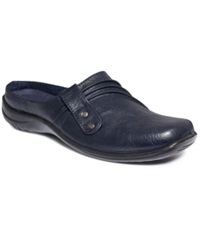 Easy Street Shoes Easy Street Holly Comfort Clogs Women's Shoes Navy