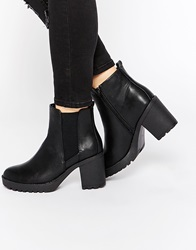 Oasis Heeled Ankle Boots Black