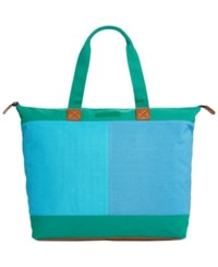 Tommy Hilfiger Flag Colorblock Top Zip Tote Kelly Green