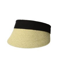 San Diego Hat Company Ubv044 Visor With Adjustable Canvas Band And Terry Cloth Interior Sweatband Black Casual Visor