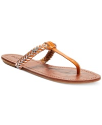 Roxy Jade T Strap Braided Thong Sandals Women's Shoes Tan