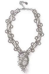 Dannijo Woman Loraine Silver Tone Crystal Necklace Silver