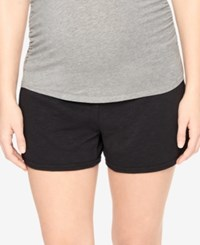 Motherhood Maternity French Terry Shorts Black