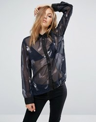 Religion Feather Award Blouse Dark Navy