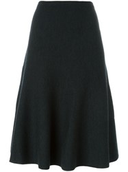 Theory Godet Hem Midi Skirt Grey