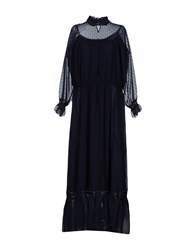 Brigitte Bardot Long Dresses Dark Blue