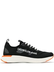 Calvin Klein Jeans Lace Up Low Sneakers Black