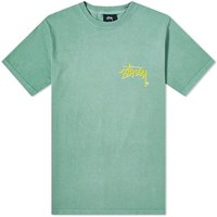 Stussy Stock C. Pigment Dyed Tee Green