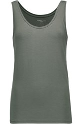 Majestic Stretch Jersey Tank Army Green