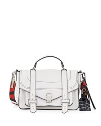 Proenza Schouler Ps1 Medium Patchwork Strap Satchel Bag White