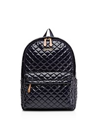 M Z Wallace Mz Metro Lacquer Backpack Dawn Lacquer Gold