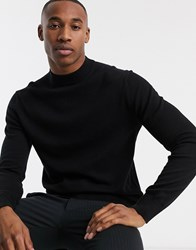 French Connection Organic Cotton Turtle Neck In Black
