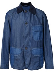 Kent And Curwen Buttoned Jacket Blue