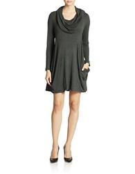 Kensie Cowl Neck Jersey Dress Heather Charcoal