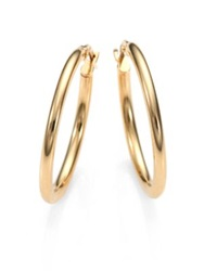 Roberto Coin 18K Yellow Gold Oval Hoop Earrings 1