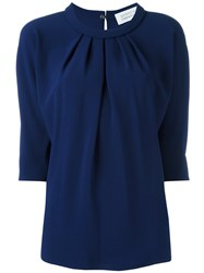 Gianluca Capannolo Ruched Blouse Blue