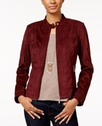 American Rag Zipper Front Faux Suede Jacket Only At Macy's Zinfandel