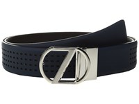 Z Zegna Adjustable Reversible Bgomc1 35Mm Belt Blue Black