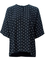Givenchy Cross Print Blouse Black