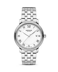 Montblanc Tradition Date Automatic Watch 40Mm White Silver