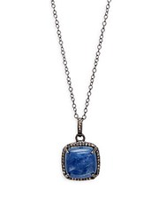 Adornia Kyanite And Champagne Diamonds Zora Necklace Silver