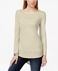 Styleandco. Style And Co. High Low Long Sleeve Tee Only At Macy's Stonewall