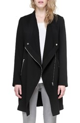 Soia And Kyo Women's Draped Asymmetrical Coat Black
