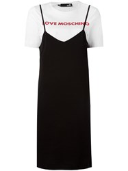 Love Moschino Layered T Shirt Dress Black