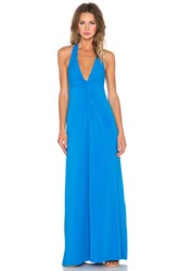 Splendid Jersey Twist Front Maxi Dress Blue