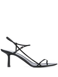 The Row Bare Sandals Black