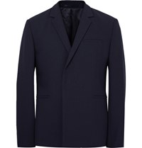 Cos Blue Slim Fit Wool Blazer Midnight Blue