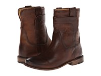 Frye Paige Short Riding Dark Brown Antique Pull Up Women's Pull On Boots