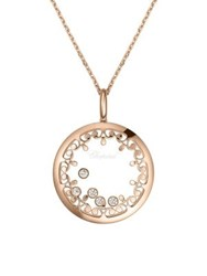 Chopard Happy Diamonds And 18K Rose Gold Joaillerie Pendant