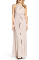Eliza J Women's Beaded Lace And Chiffon Gown