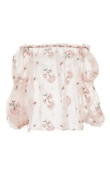 Luisa Beccaria Off The Shoulder Pink Blouse Light Pink