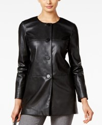 Alfani Prima Faux Leather Blazer Only At Macy's Deep Black