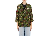 Icons Women's 1980S Dutch Cotton Field Jacket Dark Green