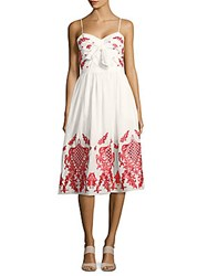 Red Carter Swim Sleeveless Embroidered Dress Ivory