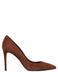 Dolce And Gabbana 85Mm Suede Pumps With Leopard Sole