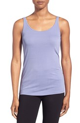 Petite Women's Eileen Fisher Long Scoop Neck Camisole Aster
