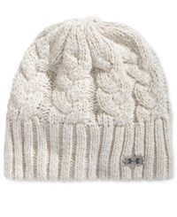 Under Armour Around Town Beanie Ivory Smoke Steel