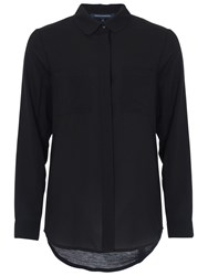 French Connection Polly Plains Pocket Detail Shirt Black