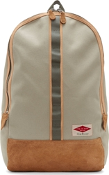 Rag And Bone Grey And Tan Suede Trimmed Derby Backpack