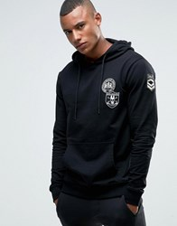 Only And Sons Hoodie With Badges Black