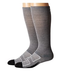 Feetures Elite Merino Light Cushion Crew 2 Pair Pack Grey Pacific Blue Crew Cut Socks Shoes Gray