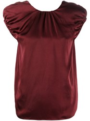 Rochas Round Neck T Shirt Red