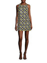 Milly Printed Shift Dress Lemon